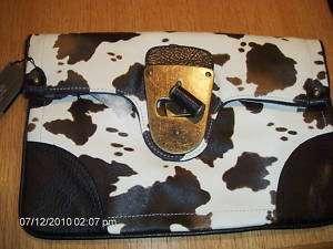 WOMENS BLK AMINAL PRINT CLUTCH BAG CANDICE #LA79312 NEW