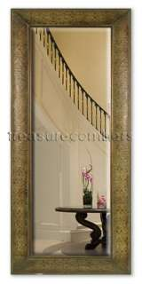 XL Large Embossed COPPER Floor Wall MIRROR Beveled