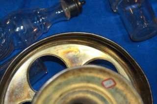 Antique Condiment Castor Cruet Set Rogers Triple Silver Plate, 5