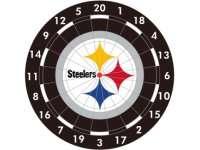 NFL Pittsburgh STEELERS Logo Bristle Dart Board   NEW