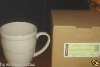 IVORY Jumbo Coffee Cup Tea Mug Longaberger Woven Traditions Pottery