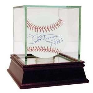 Joe Pepitone Autographed Ball   with 3X AS Inscription   Autographed