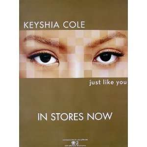Keyshia Cole   Just Like You   Poster   New   Rare   Let If Go   Give
