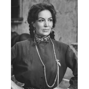 Mexican Actress Maria Felix on Set New Picture Juana Gallo Stretched