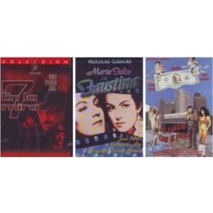 3 DVDs Maria Felix en FAUSTINA / 7 EN LA MIRA / AL