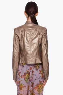 Haute Hippie Bronze Leather Jacket for women
