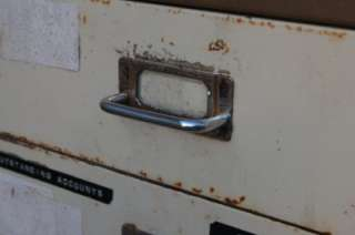 Industrial Metal Filing Cabinet 6 Drawer, Modernist Chic, Retro
