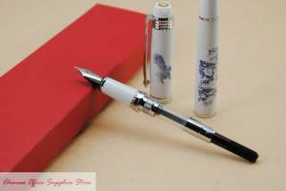 Wing Sung 01 Blue&White Porcelain Painting Fountain Pen