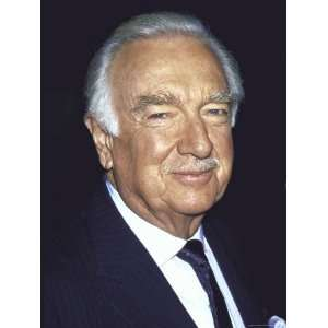 Former Television News Anchor Walter Cronkite Stretched Canvas Poster