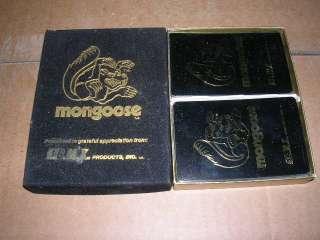 VINTAGE 1970S 1980 OLD SCHOOL BMX BIKE MONGOOSE PLAYING CARDS NOS MIB