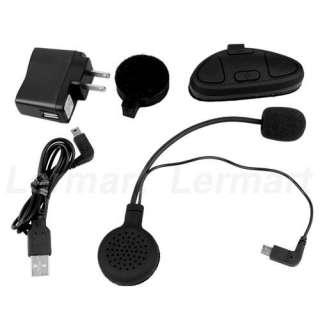 Stereo Motorcycle GPS Helmet Bluetooth Intercom Headset Headphone