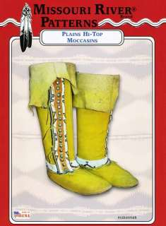 Cheyenne, Plains Hi Top Boot Moccasins Sewing Pattern His/Hers sz