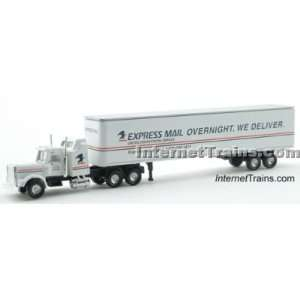 Cor N Scale Semi Truck w/45 Trailer   US Express Mail: Toys & Games