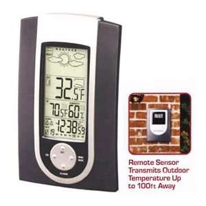 Thermometer with Atomic Clock, Weather Forecast: Patio, Lawn & Garden