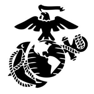 Marine Corps   Eagle Globe & Anchor BLACK USMC Car Decal