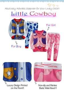 Baby & Toddler Boy Girl Sleepwear Pajama Set  Little Cowboy