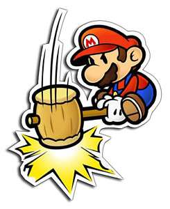 PAPER MARIO Car Bumper Sticker decal