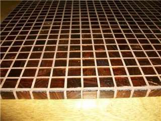 GLASS TILE BROWN MOSAIC TABLE TOP PATIO COFFEE PLANT