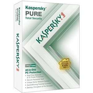 Kaspersky Pure 3user Real Time Protection Intelligent Scanning Unique