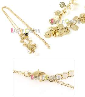 Vintage Shiny Gold Color Style Skull Pendant Necklace