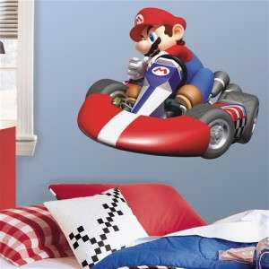 New GIANT MARIO KART Wii WALL DECAL Nintendo Bedroom Room Stickers