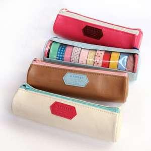 Cylinder Shape Masking Tape Pencil box case / M Pocket