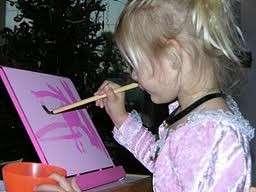Pink Buddha Laptop Easel Board Art & Craft Water Paint