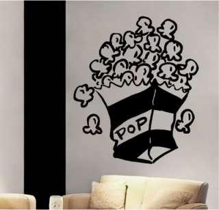 Popcorn Theater Room Vinyl Wall Decor Sticker Decal