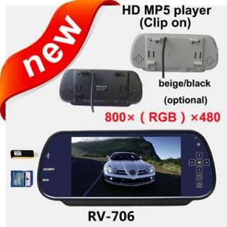 HD 800×480pixesl 7 LCD Color Car Rear View Reverse Mirror Monitor