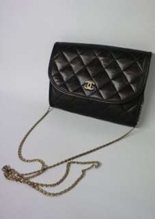 Black Lambskin Leather Small Pouch Bag SALE NO RESERVE PRICE!