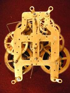 Antique Seth Thomas 8 day Striking Clock Movement   3 5/8   Rebushed