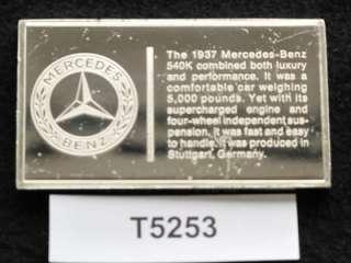 1937 MERCEDES BENZ 540K AUTO STERLING SILVER INGOT