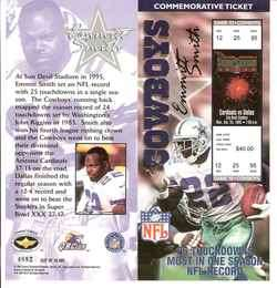 EMMITT SMITH DALLAS COWBOYS COMMEMORATIVE TICKET NEW