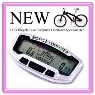 Blue LCD Bicycle Bike Computer Odometer Speedometer