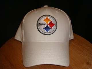 REEBOK PITTSBURGH STEELERS TEAM HAT CAP WHITE