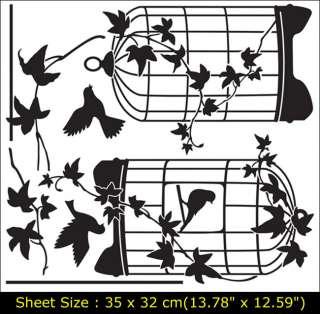 BIRD&CAGE Vinyl Wall Art Deco Sticker Decal GS807