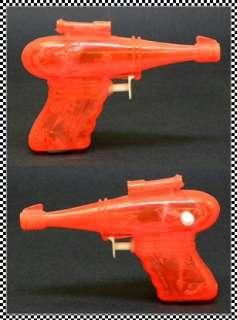Red Plastic Ray Gun, Sci Fi Squirt Gun, Laser Water Pistol
