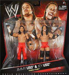 JIMMY USO & JEY USO WWE MATTEL 11 TAG TEAM FIGURE