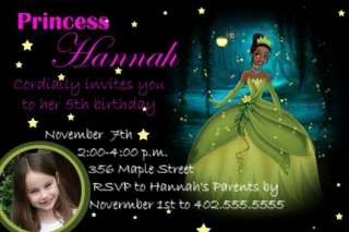 Princess Tiana and the Frog Birthday Invitations cards