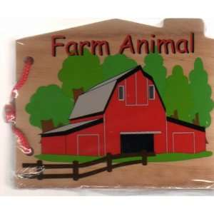Wooden Farm Animal Book Toys & Games