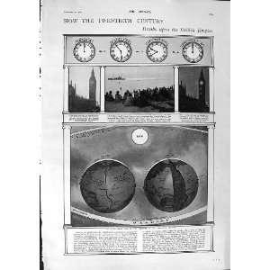 1900 BIG BEN CLOCK ASTRONOMY EARTH CARNEGIE DE WET WAR